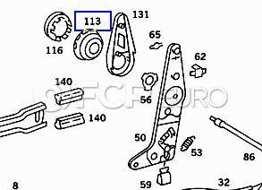 Mercedes Seat Adjuster Wheel (380SL) - Genuine Mercedes 0009181526