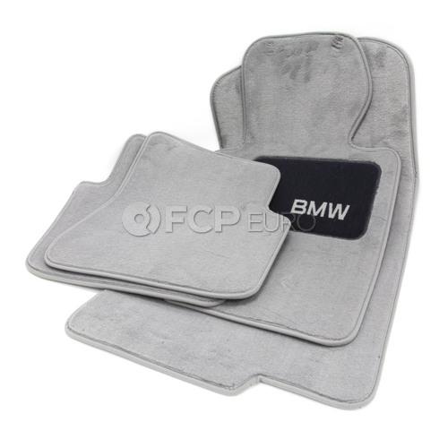 BMW Carpeted Floor Mat Set (Grey) - Genuine BMW 82110021271