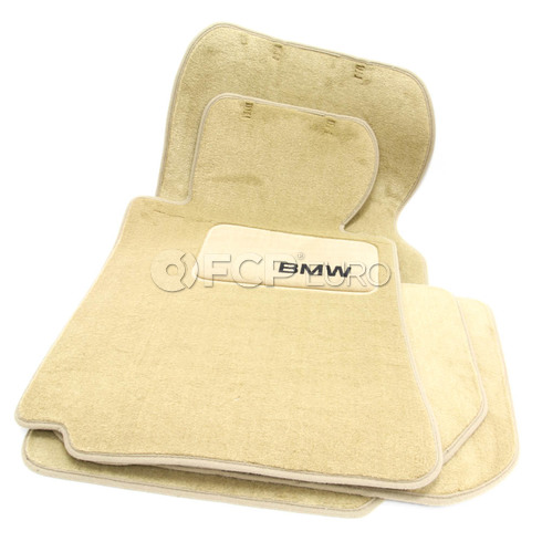 BMW Carpeted Floor Mats set of 4 Sand Beige (E38) - Genuine BMW 82111469538