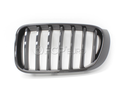 BMW Ornam.Grille High-Gloss Black Fr.Left (M Performance) - Genuine BMW 51712337762