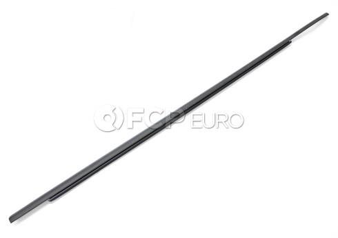 BMW Channel CoverExteriorDoor Front Left (Black) - Genuine BMW 51337136965
