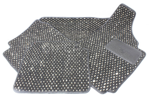 BMW Set Of Floor Mats (BlackWhite) - Genuine BMW 51470307526