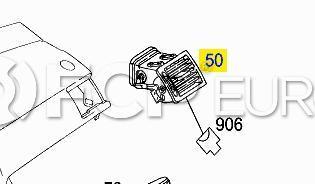 Mercedes Dashboard Air Vent Right Dull Black (C300