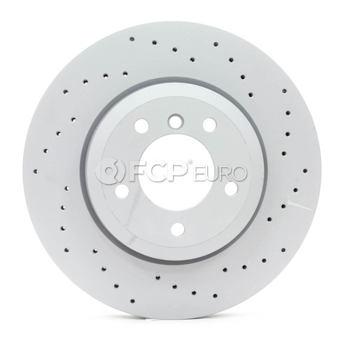 BMW Drilled Brake Disc - Zimmermann 34116864047