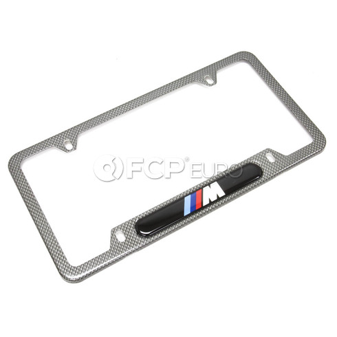 BMW Number Plate Frame (Mcarbon Fiber) - Genuine BMW 82120418625