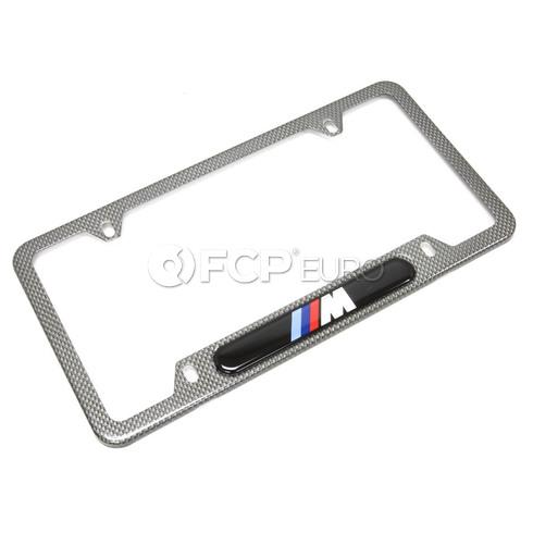 BMW Number Plate Frame (Mcarbon Fiber) - Genuine BMW 82120418625