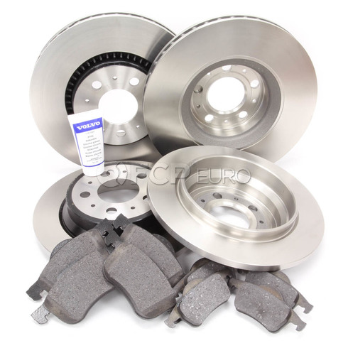 "Volvo Brake Kit 12"" Front And Rear (S60 V70 XC70 S80) - Genuine Volvo KIT-P2305FTANDRBKKT"