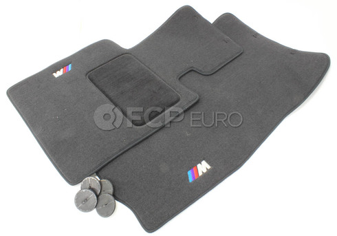 BMW Black Floor Mat Set (E85 E86 Z4) - Genuine BMW 82110414670