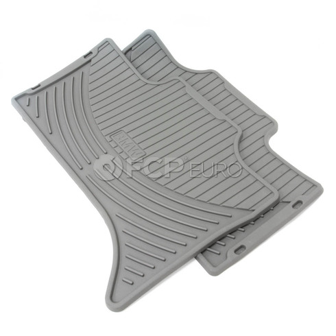 BMW Set Rubber Mats Rear (Gray X5) - Genuine BMW 51470151486