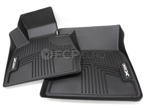 BMW All Weather Floor Liners Front - Black (F25 X3) - Genuine BMW 82112293586