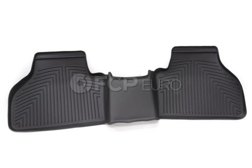 BMW All Weather Floor Liners Rear - Black (F25 X3) - Genuine BMW 82112210411