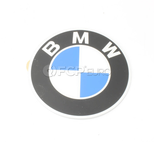BMW Plaque With Adhesive Film (D=60mm) - Genuine BMW 36131181105