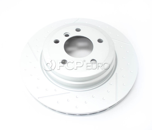 BMW Brake Disc Ventilated W-Holes Rear (324X22) - Genuine BMW 34216795755