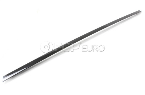 BMW Finisher Window Frame Top Door Rr Rt (Gloss Black) - Genuine BMW 51357209144