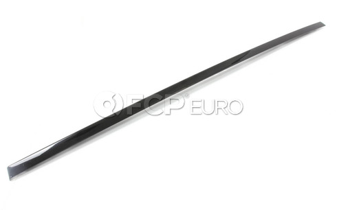 BMW Finisher Window Frame Top Door Rr Lt (Gloss Black) - Genuine BMW 51357209143
