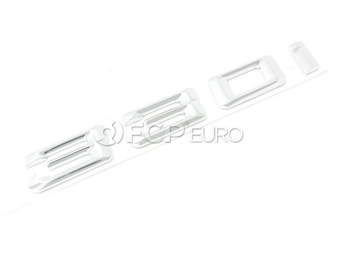 BMW 330i Trunk Emblem (E46) - Genuine BMW 51147000494