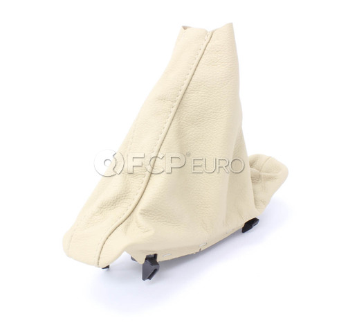 BMW Leather Handbrake Lever Cover (Beige) - Genuine BMW 34427121030