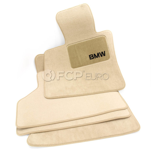 BMW Carpeted Floor Mat Set (Beige) - Genuine BMW 82110439411