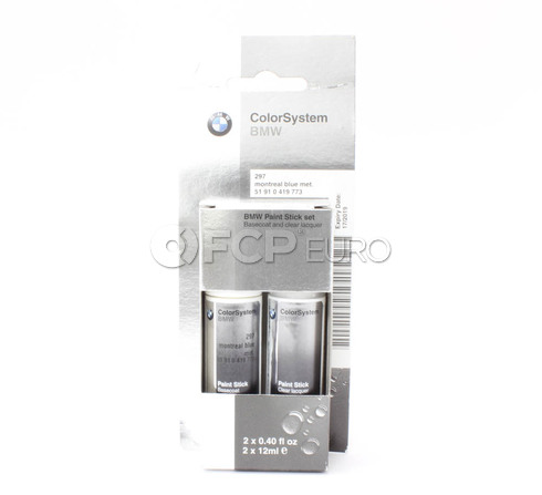 BMW Touch Up Paint 297 (Montreal Blue) - Genuine BMW 51910419773