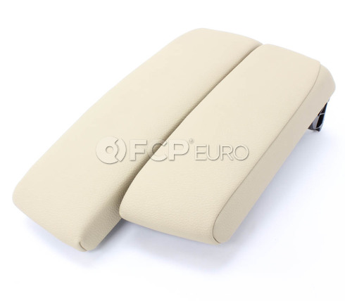 BMW Split Center Armrest (Beige Sensatec Leatherette) - Genuine BMW 51167137571