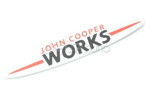 Mini Cooper Emblem Adhered (Jcw) - Genuine Mini 11127612172
