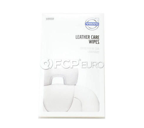 Volvo Leather Care Wet Wipe Kit - Genuine Volvo 31393559