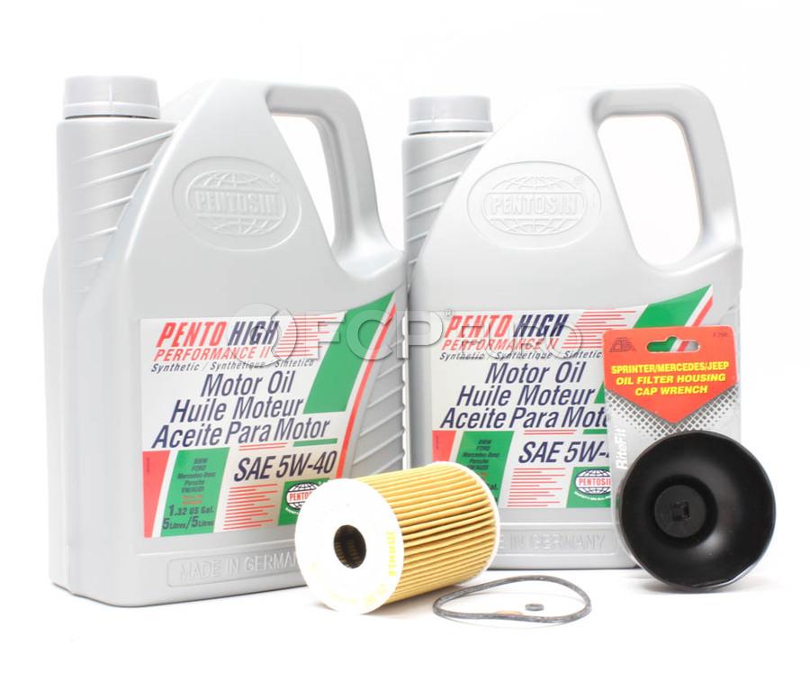 mercedes diesel oil change kit (om642) - pentosin om642osk
