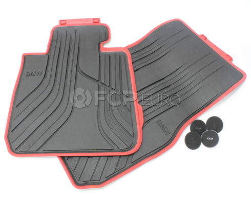 BMW Floor Mats All-Weather Front (SportLhdAnthr) - Genuine BMW 51472219800