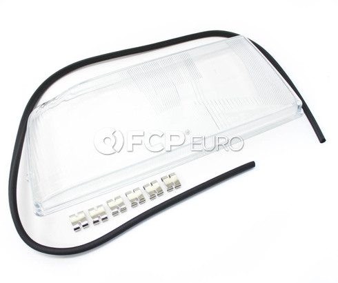 Volvo Headlight Lens Left E-Code (850 Single Bulb Style) - 3512693
