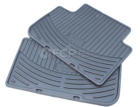 BMW Rubber Floor Mats (E83 Black Rear) - Genuine BMW 82110305176