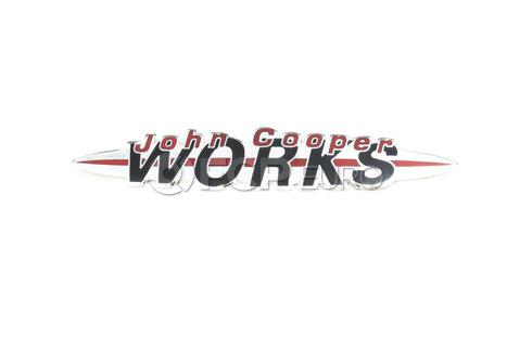 Mini Cooper Model Designation Lettering Front (J Cooper Works) - Genuine Mini 51147175101