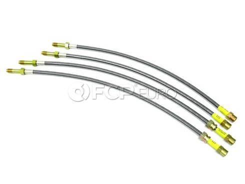 BMW Stainless Brake Hose Set (E46) - Troutman 885522956