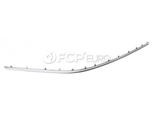 BMW Finisher Bumper Guard Left (Chrom) (745Li 760i 760Li) - Genuine BMW 51117033475