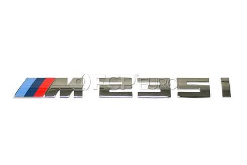 BMW Emblem Adhered Rear (M235i M235i xDrive) - Genuine BMW 51128055967