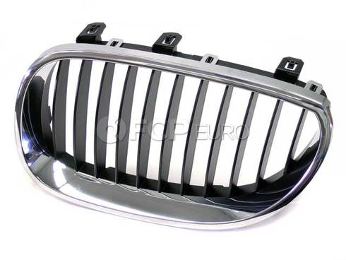 BMW Grille Left (Black) (525i 530i 530xi) - Genuine BMW 51137027061