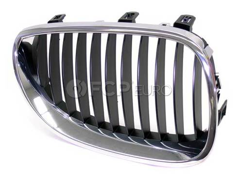 BMW Grille Right (Black) (525i 525xi 530i) - Genuine BMW 51137027062