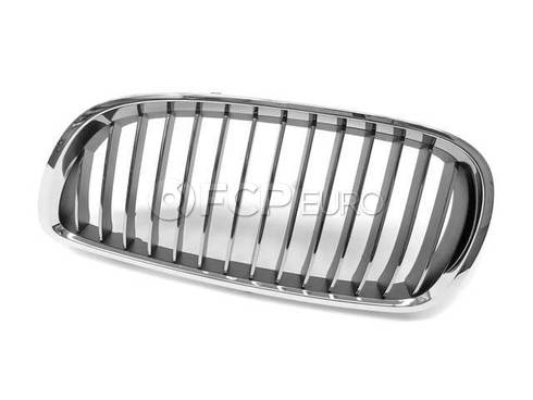 BMW Grille Chrome Left (Chrom) (328i 335i M3) - Genuine BMW 51137157277