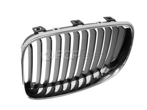 BMW Grille W Chrome Frame Left (128i 135i 135is) - Genuine BMW 51137166439