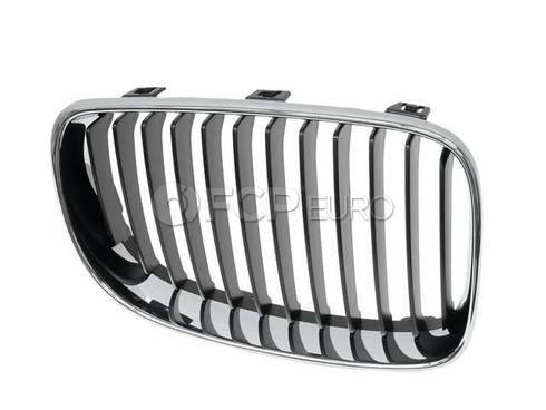 BMW Grille W Chrome Frame Right (128i 135i 135is) - Genuine BMW 51137166440