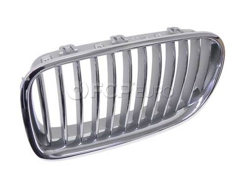BMW Grille Front Left (Chrom) (550i 550i xDrive Active Hybrid 5) - Genuine BMW 51137261355