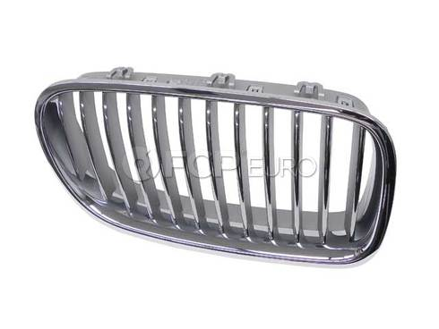 BMW Grille Front Right (Chrom) (550i 550i xDrive ActiveHybrid 5) - Genuine BMW 51137261356