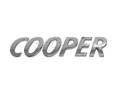Mini Cooper Lettering (Cooper Cooper Countryman Cooper Paceman) - Genuine BMW 51142755617