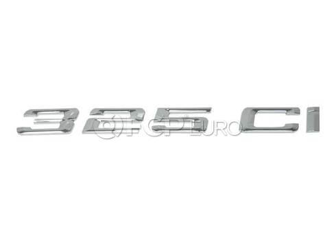 BMW Emblem Adhered Rear (325Ci) - Genuine BMW 51147025253