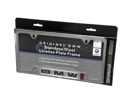 BMW License Plate Frame (Polished) - Genuine BMW 82120010395