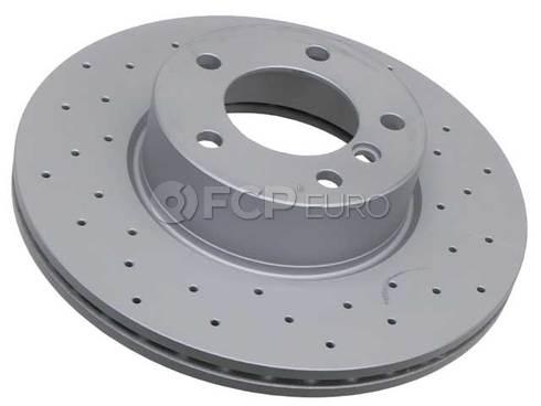 BMW Drilled Brake Disc - Zimmermann 34116855006