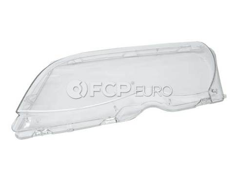BMW Headlight Lens Left (E46) - Genuine BMW 63126924045