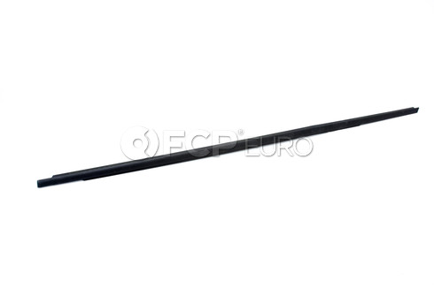 BMW Channel CoverExteriorDoor Front Left (Black Matt) - Genuine BMW 51337060235
