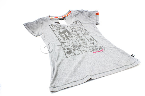 Mini Cooper Mini T-Shirt Ladies Yours (Grey M) - Genuine Mini 80142288475