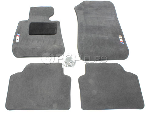 BMW M3 Carpeted Floor Mat Set (E90) - Genuine BMW 82112293526
