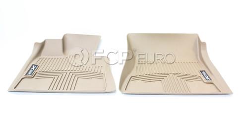 BMW Rubber Floor Liner (X5 E70 Frt Beig) - Genuine BMW 82112211586